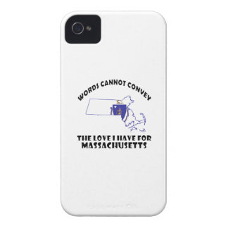 Massachusetts state flag and map designs iPhone 4 cover