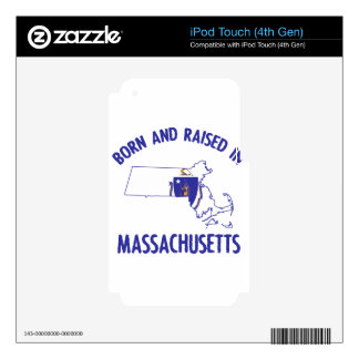 Massachusetts state flag and map designs iPod touch 4G decal