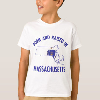 Massachusetts state flag and map designs T-Shirt