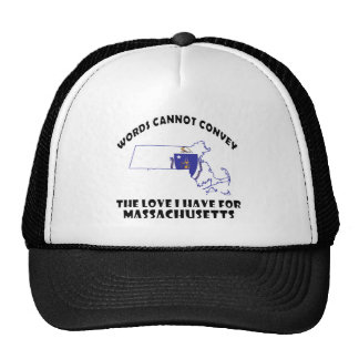 Massachusetts state flag and map designs trucker hat
