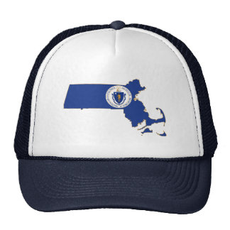 Massachusetts State Flag and Map Hats