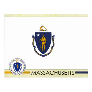 Massachusetts State Flag and Seal Postcard
