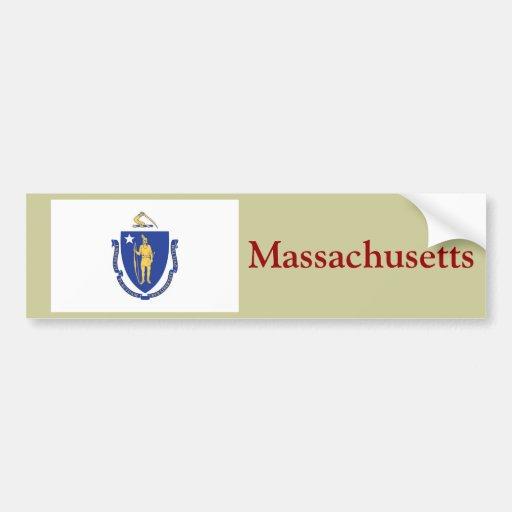 Massachusetts State Flag Bumper Sticker