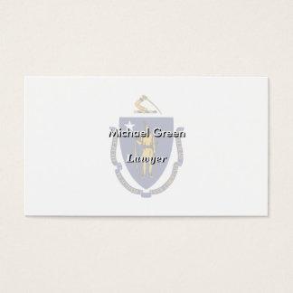 Massachusetts State Flag Business Card