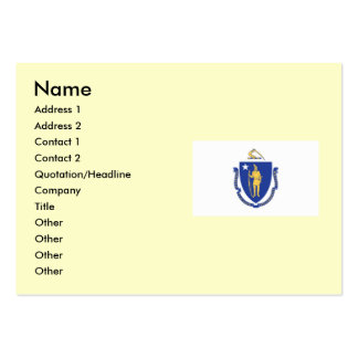 Massachusetts State Flag Large Business Cards (Pack Of 100)