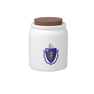 Massachusetts State Flag Candy Jar