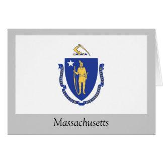 Massachusetts State Flag Card