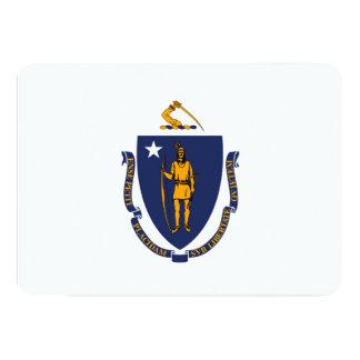 Massachusetts State Flag Design 5x7 Paper Invitation Card