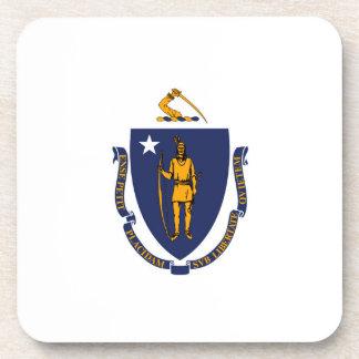 Massachusetts State Flag Design Beverage Coaster