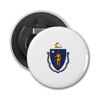 Massachusetts State Flag Design Bottle Opener