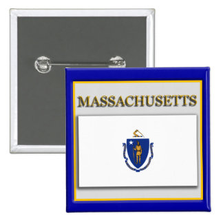 Massachusetts State Flag Design Button