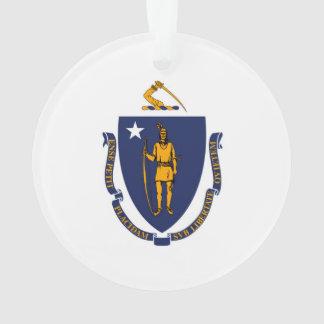 Massachusetts State Flag Design Ornament