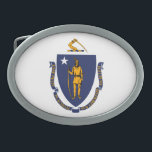 """Massachusetts State Flag Design Oval Belt Buckle<br><div class=""""desc"""">Here&#39;s a Massachusetts State Flag Design presented on a variety of popular products. A great custom gift idea for all occasions and for anyone coming for a visit.                       Introducing</div>"""