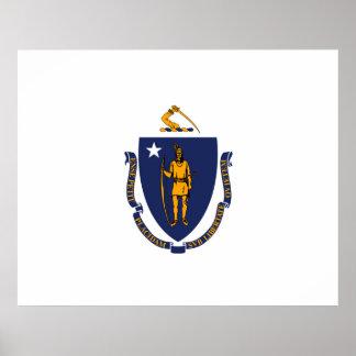 Massachusetts State Flag Design Poster