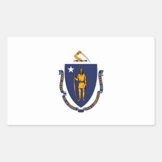 Massachusetts State Flag Design Rectangular Sticker