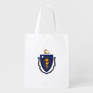 Massachusetts State Flag Design Grocery Bag