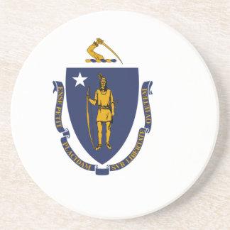 Massachusetts State Flag Drink Coaster