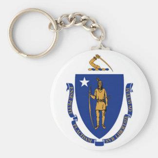 Massachusetts State Flag Keychain