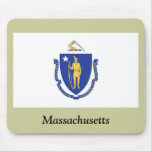 Massachusetts State Flag Mouse Pads