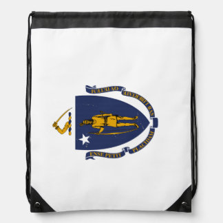Massachusetts State Flag Drawstring Backpack