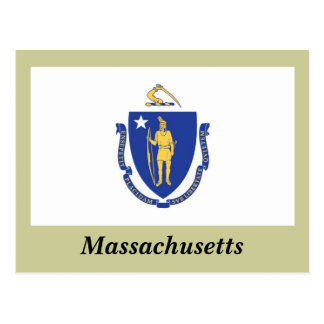 Massachusetts State Flag Postcard