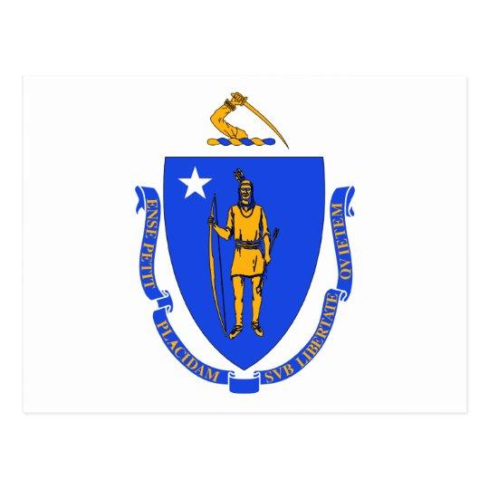 Massachusetts State Flag Postcard