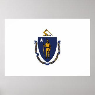 Massachusetts State Flag Poster