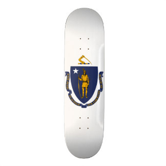 Massachusetts State Flag Skateboard Deck