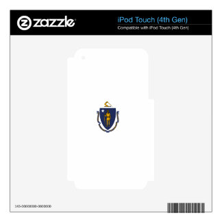 Massachusetts State Flag Skins For iPod Touch 4G