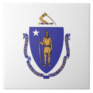 Massachusetts State Flag Tile