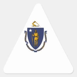 Massachusetts State Flag Triangle Sticker