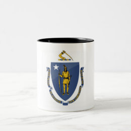 Massachusetts State Flag Two-Tone Coffee Mug
