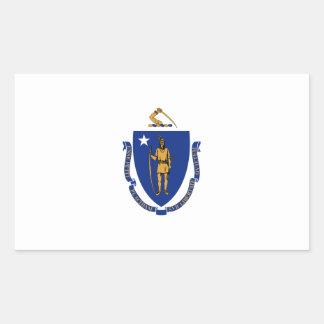 Massachusetts State Flag, United States Rectangular Sticker