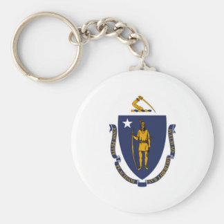 Massachusetts state flag usa united america symbol keychain