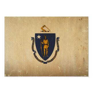 Massachusetts State Flag VINTAGE.png Card