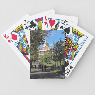 Massachusetts State House Bicycle Playing Cards