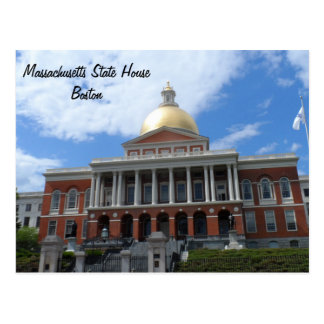Massachusetts State House, Boston Postcard