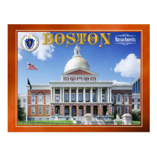 Massachusetts State House in Boston Postcard