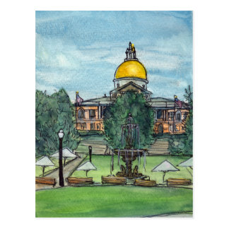 Massachusetts State House Postcard