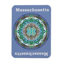 Massachusetts State Mandala Vinyl Magnet