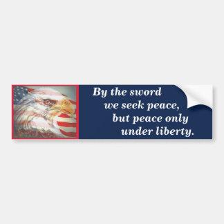 Massachusetts State Motto Bumper Sticker