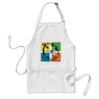 MASSACHUSETTS STATE MOTTO GEOCACHER ADULT APRON