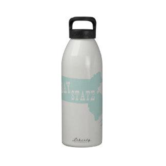 Massachusetts State Motto Slogan Drinking Bottles