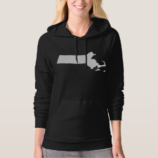Massachusetts state outline hoodie