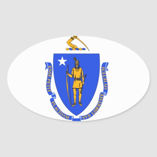 massachusetts State Oval sticker