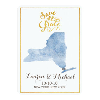 Massachusetts State Picture Save the Date Card