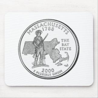 Massachusetts State Quarter Mouse Pad