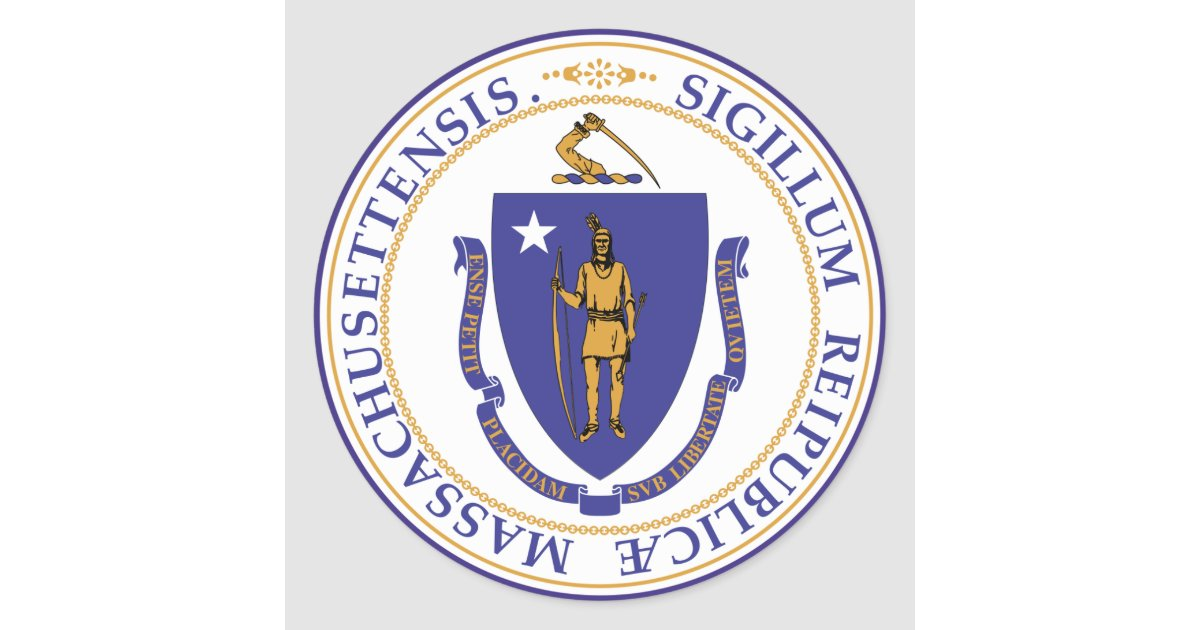 Massachusetts State Seal Zazzle Com