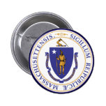 Massachusetts State Seal 2 Inch Round Button
