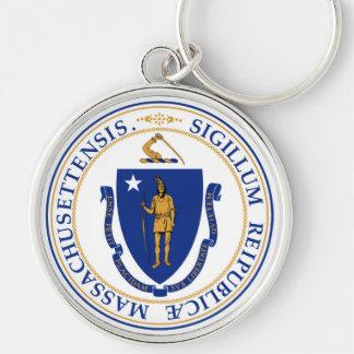 Massachusetts state seal america republic symbol f keychain